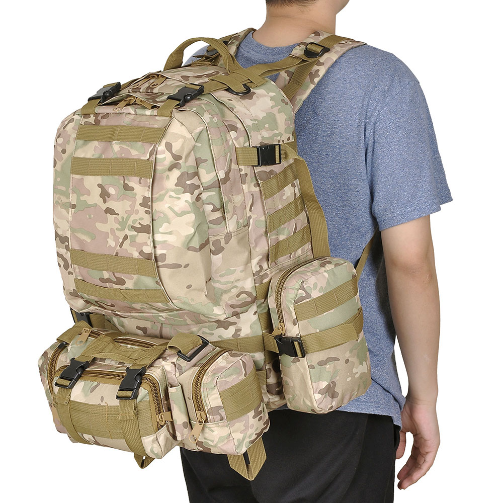 55L-Outdoor-Military-Molle-Tactical-Backpack-Rucksack-Camping-Bag-Travel-Hiking thumbnail 25