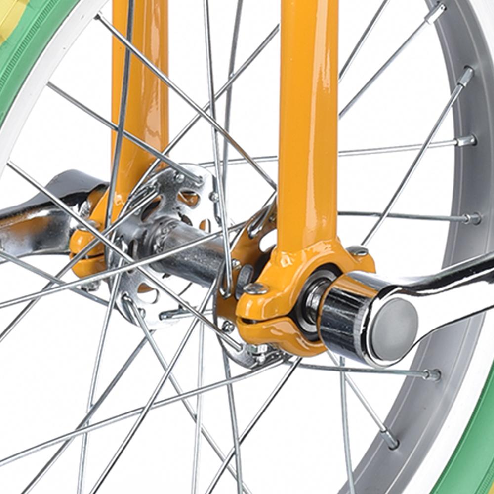 "18/"" Wheel Uni-Cycle Chrome Bike Unicycle Cycling Yellow Green Balance Exercise"