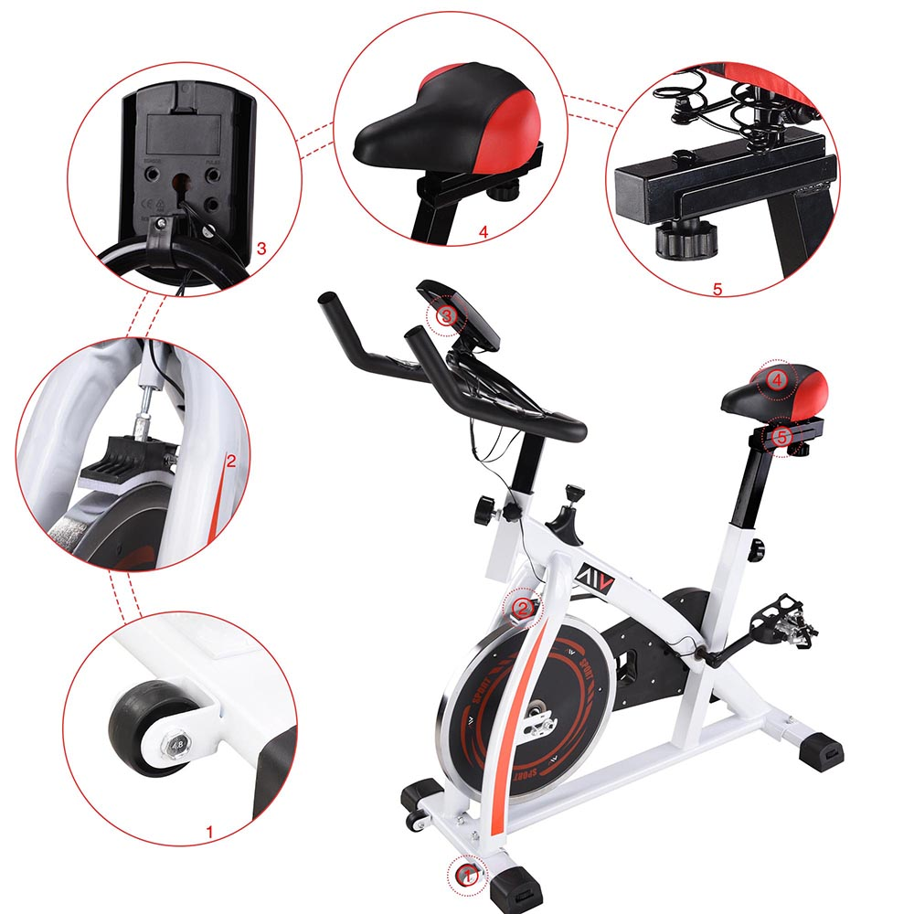 Exercise-Bike-Fitness-Gym-Indoor-Cycling-Stationary-Bicycle-Cardio-Workout-Home thumbnail 12