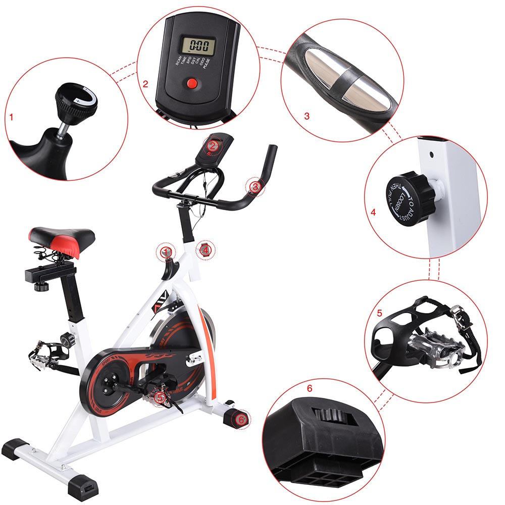 Exercise-Bike-Fitness-Gym-Indoor-Cycling-Stationary-Bicycle-Cardio-Workout-Home thumbnail 13