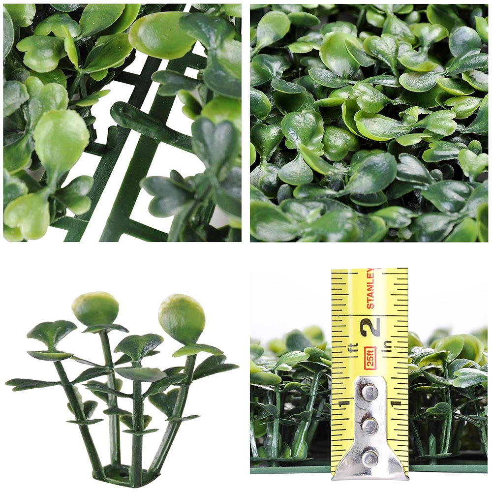 24pcs Artificial Boxwood Mat Wall Hedge Decor Privacy