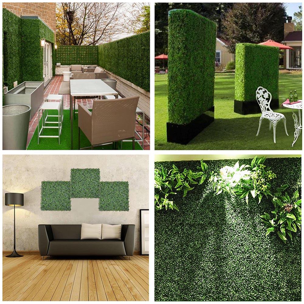 24pcs Artificial Boxwood Mat Wall Hedge Decor Privacy