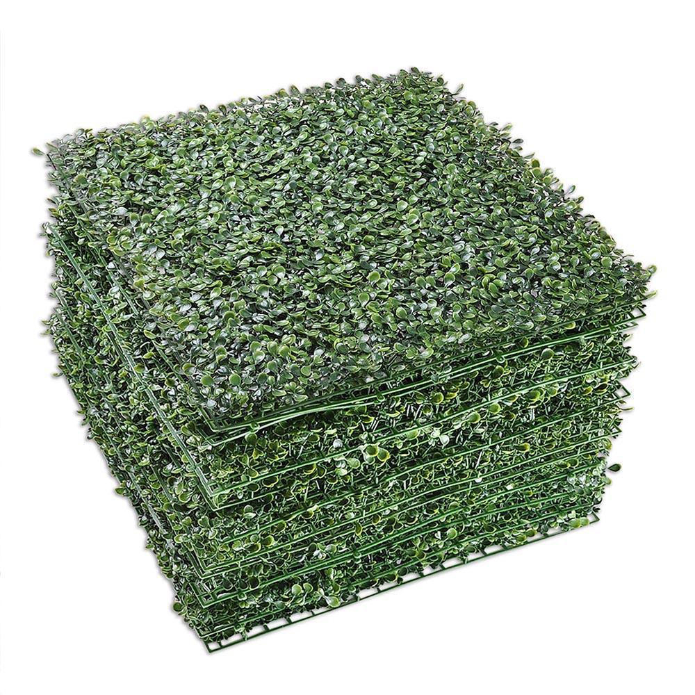 12pcs 20x20 Quot Artificial Boxwood Mat Wall Hedge Decor Grass