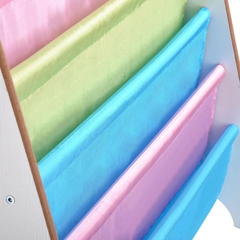 Wood-Kids-Book-Shelf-Sling-Storage-Rack-Organizer-Bookcase-Display-Holder-Opt thumbnail 18