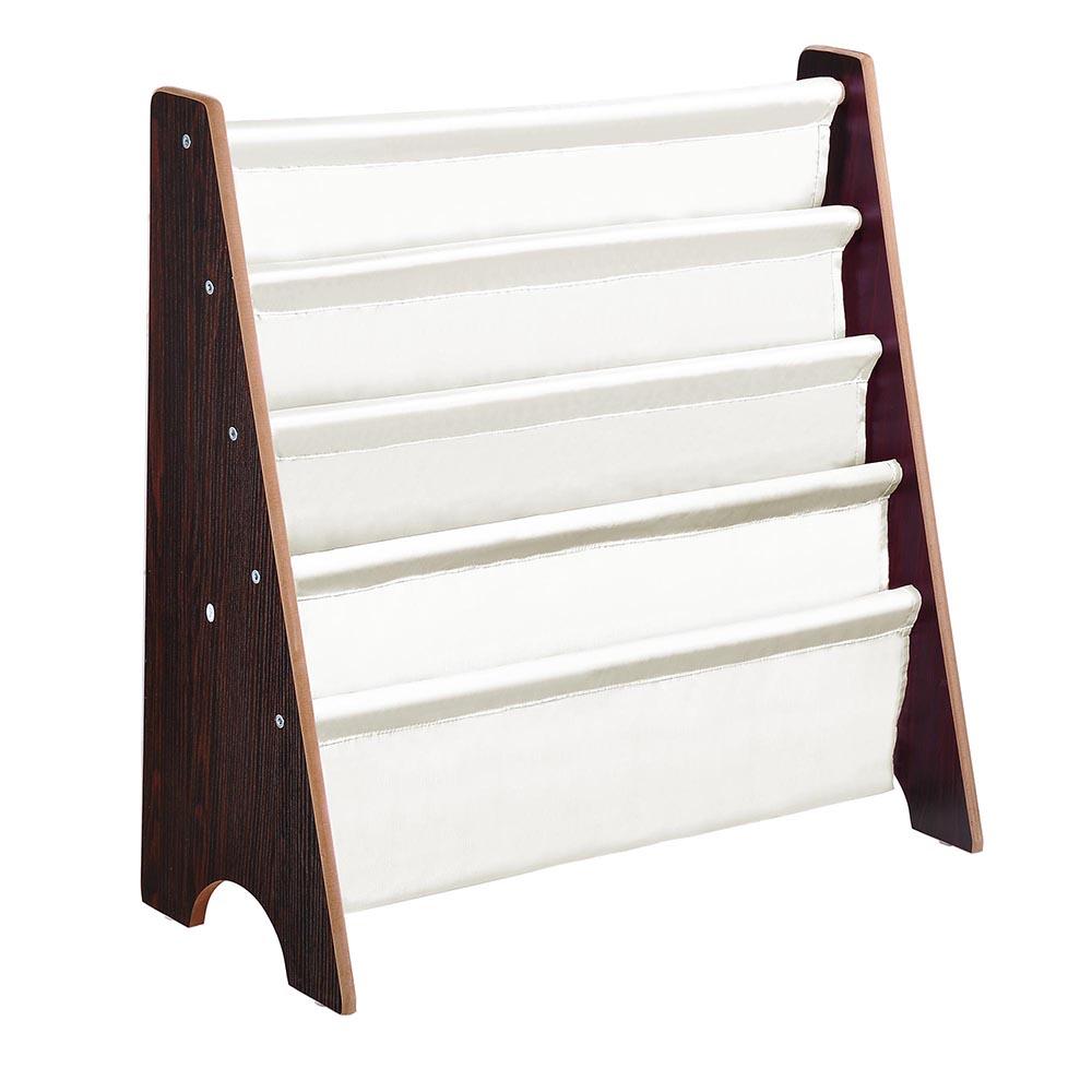 Wood-Kids-Book-Shelf-Sling-Storage-Rack-Organizer-Bookcase-Display-Holder-Opt thumbnail 10