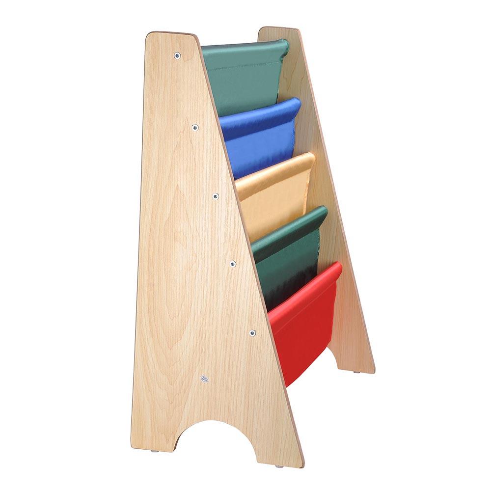 Wood-Kids-Book-Shelf-Sling-Storage-Rack-Organizer-Bookcase-Display-Holder-Opt thumbnail 5