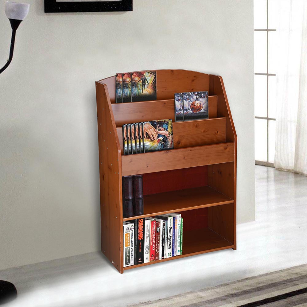 House Bookshelf: Wood Bookshelf Storage Book Shelf Rack Display Organizer