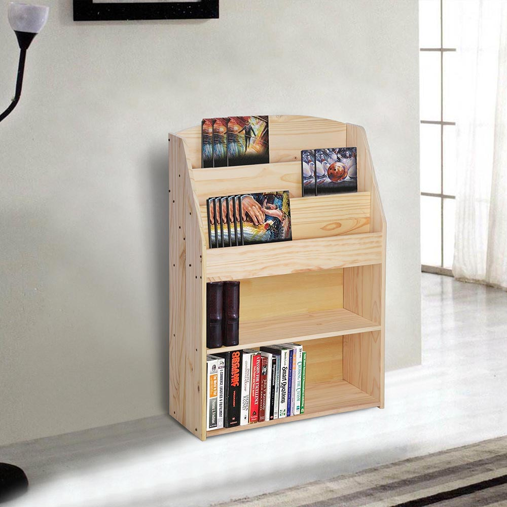 House Bookshelf: Wood Bookshelf Storage Book Rack Display Organizer