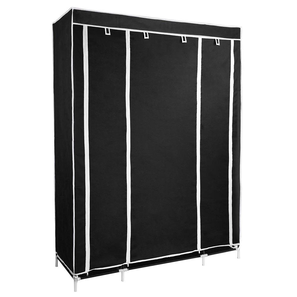 50-034-Portable-Closet-Storage-Organizer-Colthes-Wardrobe-Rack-Shelf-Beige-Red thumbnail 5
