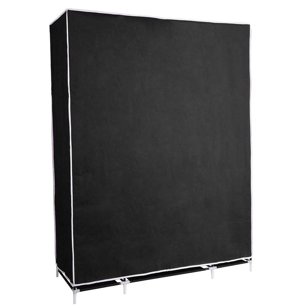 50-034-Portable-Closet-Storage-Organizer-Colthes-Wardrobe-Rack-Shelf-Beige-Red thumbnail 6