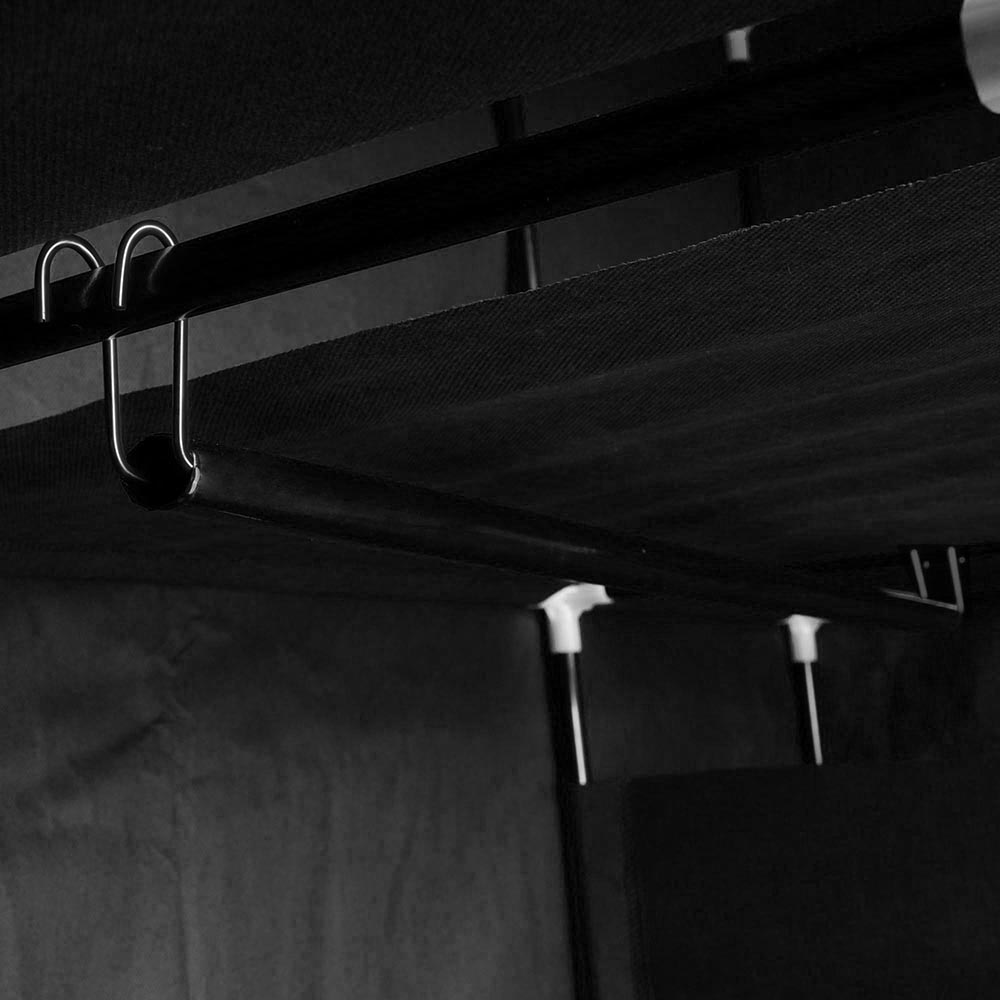50-034-Portable-Closet-Storage-Organizer-Colthes-Wardrobe-Rack-Shelf-Beige-Red thumbnail 7