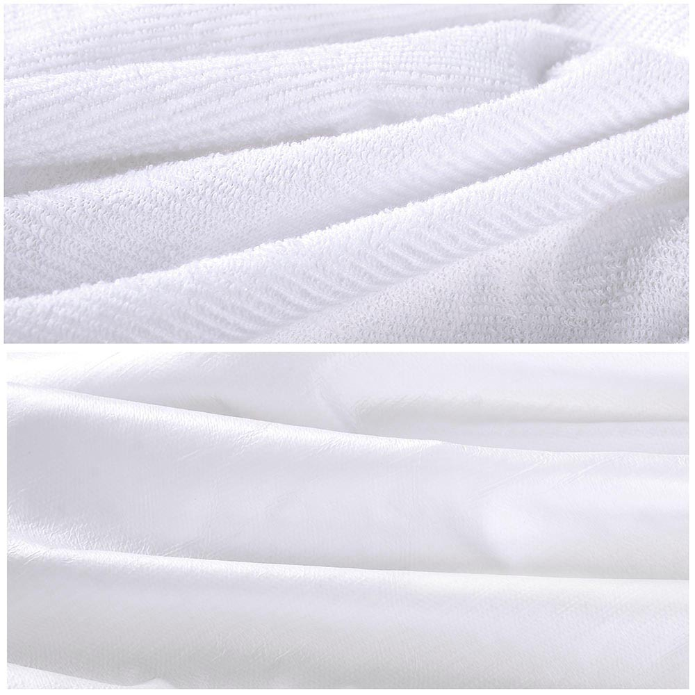 Cotton-Terry-Mattress-Protector-Waterproof-Hypoallergenic-Vinyl-Free-Bed-Cover thumbnail 4