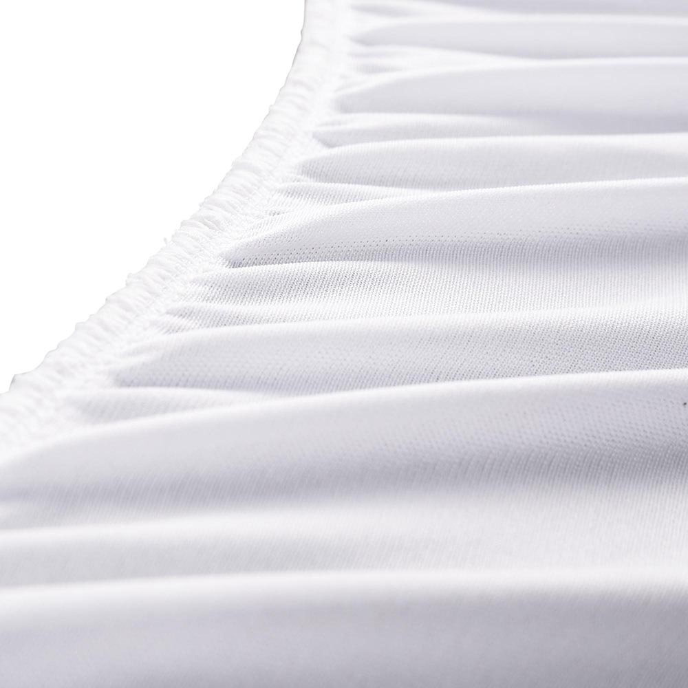 Cotton-Terry-Mattress-Protector-Waterproof-Hypoallergenic-Vinyl-Free-Bed-Cover thumbnail 6