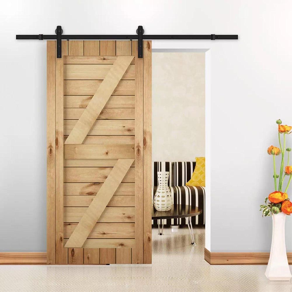 6FT-6-6FT-Carbon-Steel-Sliding-Barn-Wood-Door-Hardware-Track-System-Closet-Set thumbnail 126