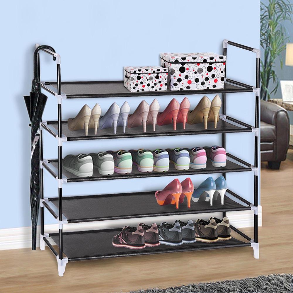 5 Tier Metal Shoe Rack Tower Shelf 25