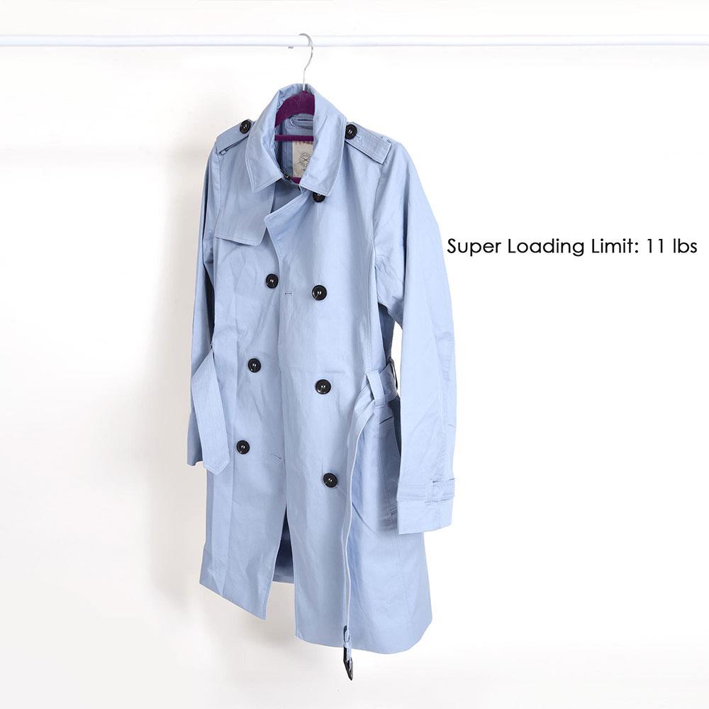 100-Velvet-Suit-Hanger-with-Tie-Bar-Non-Slip-4mm-Ultra-thin-Home-Clothes-Closet thumbnail 29