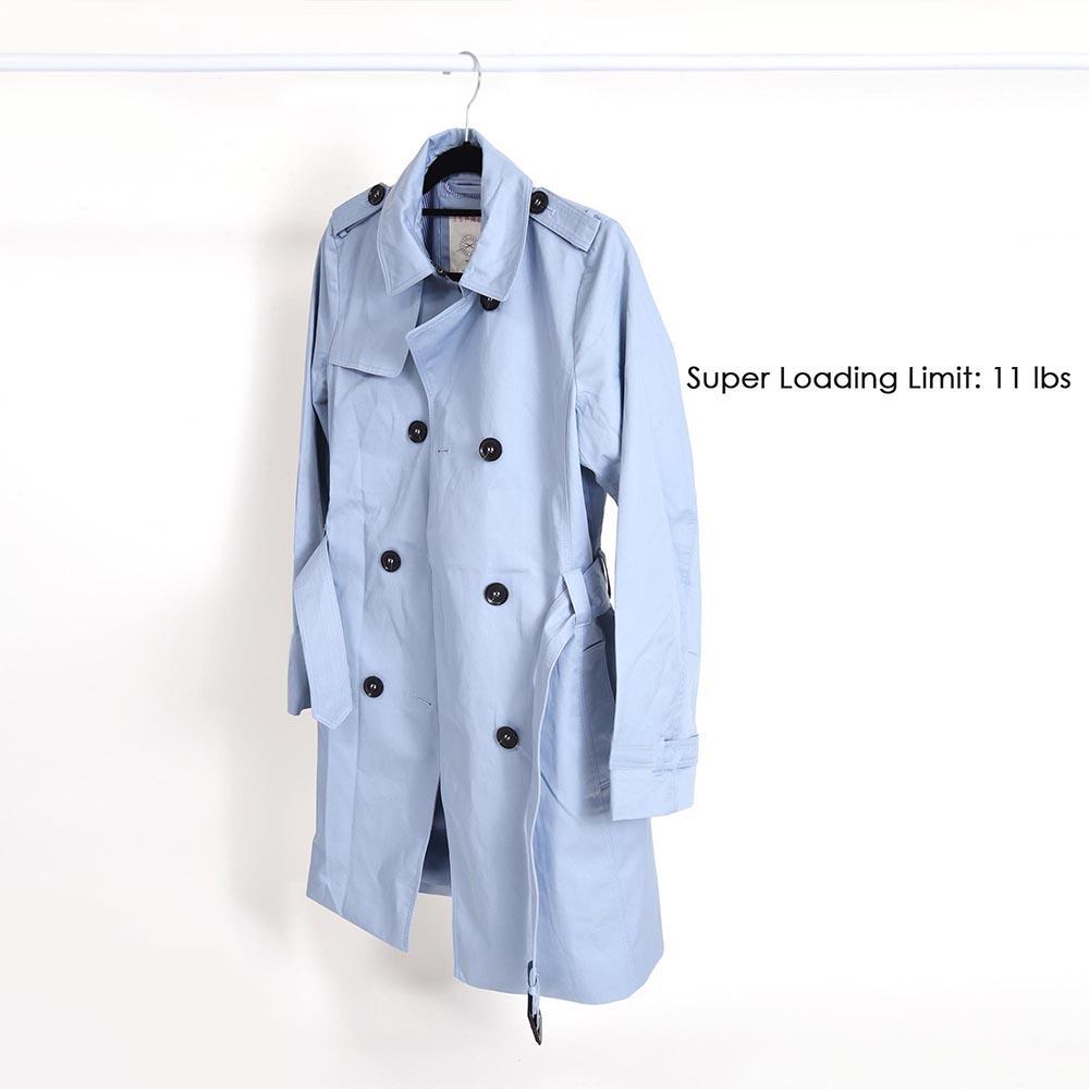 100-Velvet-Suit-Hanger-with-Tie-Bar-Non-Slip-4mm-Ultra-thin-Home-Clothes-Closet thumbnail 5