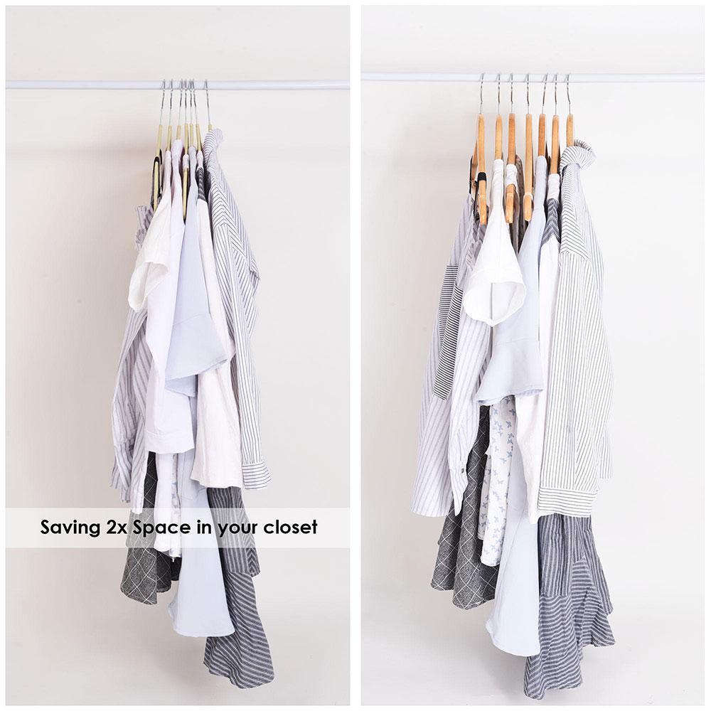 100-Velvet-Suit-Hanger-with-Tie-Bar-Non-Slip-4mm-Ultra-thin-Home-Clothes-Closet thumbnail 19