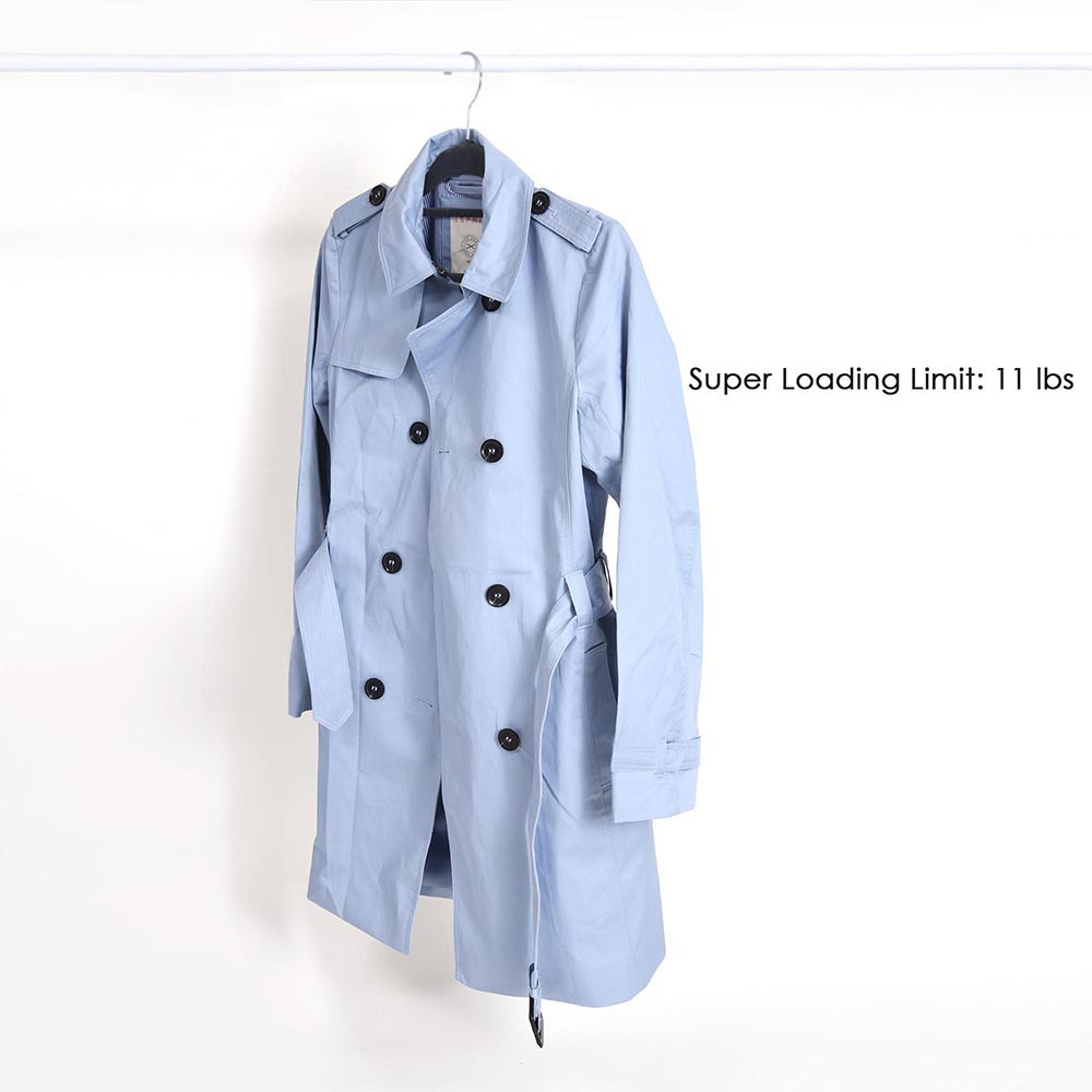 100-Velvet-Suit-Hanger-with-Tie-Bar-Non-Slip-4mm-Ultra-thin-Home-Clothes-Closet thumbnail 11