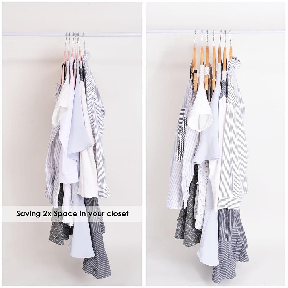 100-Velvet-Suit-Hanger-with-Tie-Bar-Non-Slip-4mm-Ultra-thin-Home-Clothes-Closet thumbnail 25