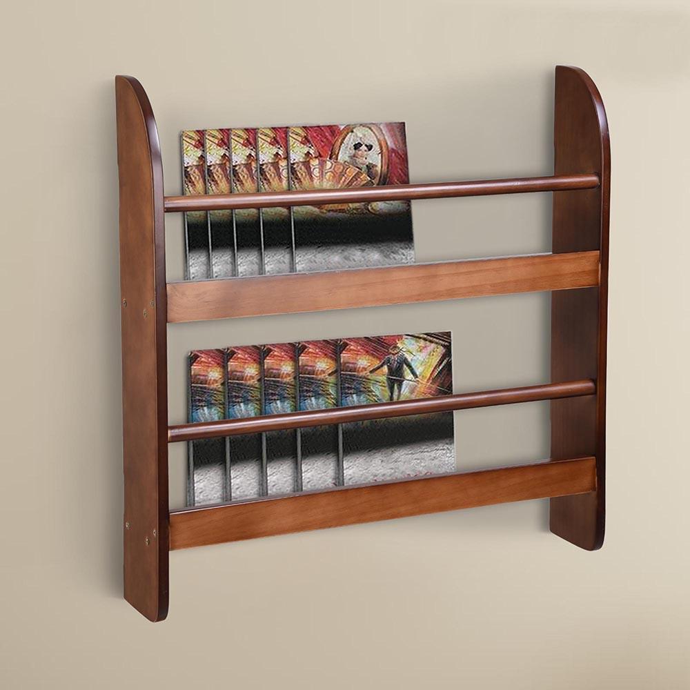 Wood Wall Mounted Bookshelf Floating Bookcase Display Storage