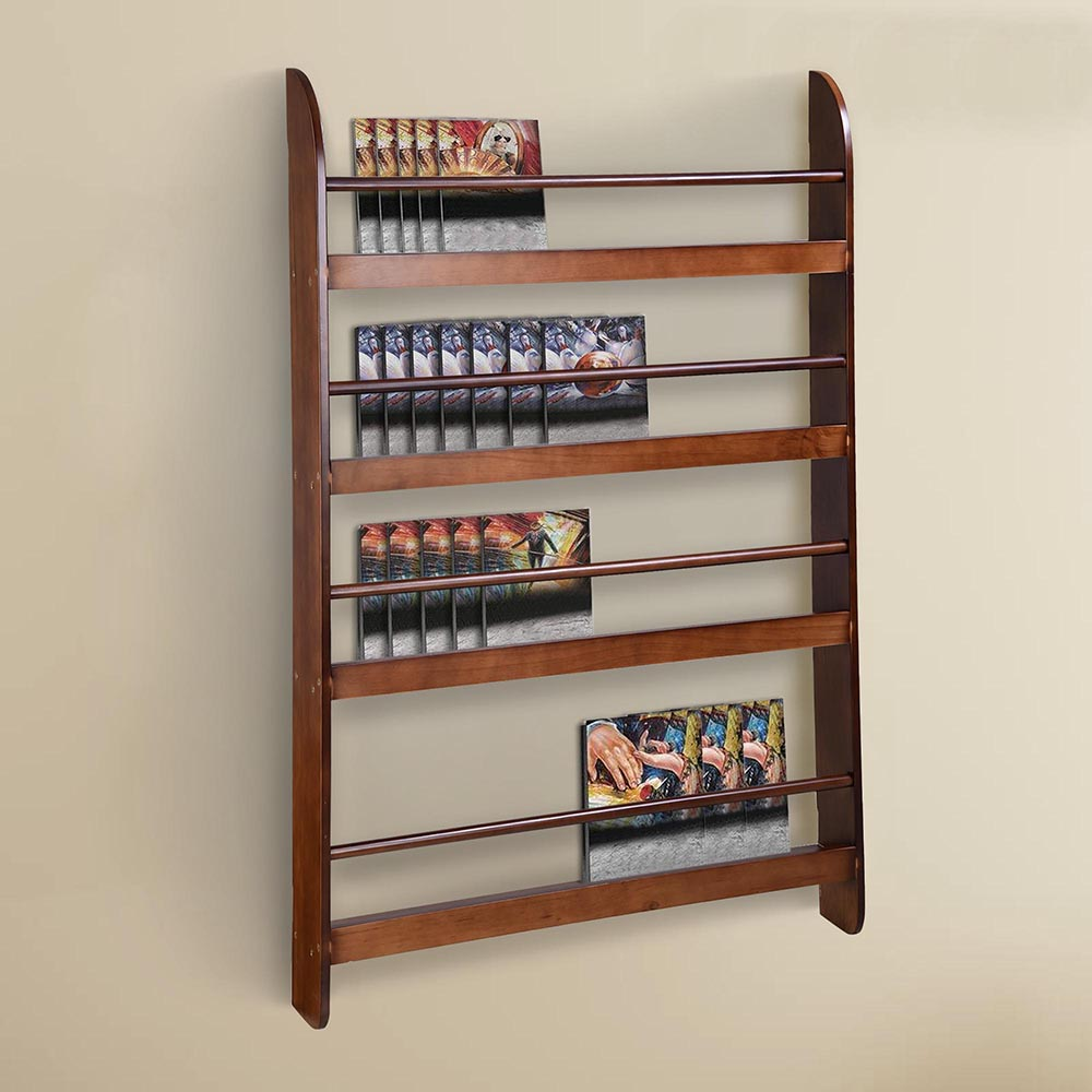 wood wall mounted bookshelf floating bookcase display storage organizer shelf ebay. Black Bedroom Furniture Sets. Home Design Ideas
