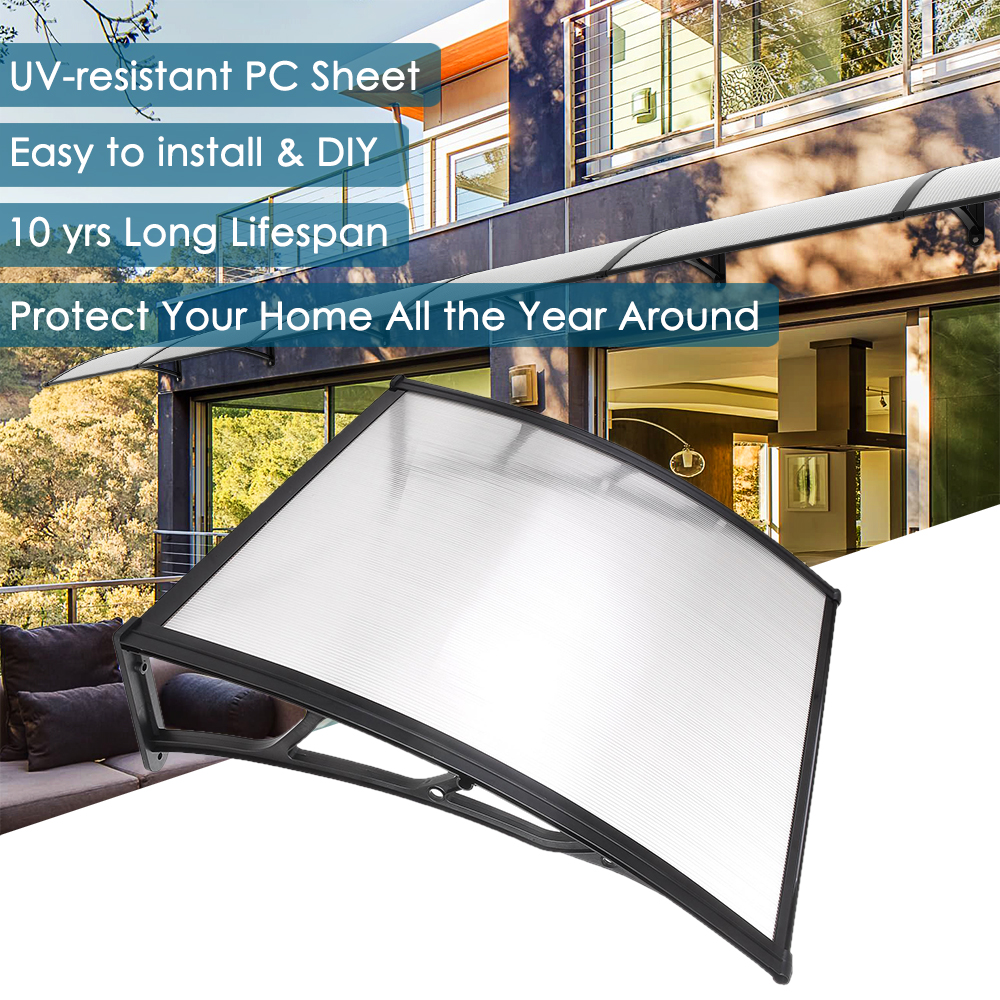 "39""x39"" Window Door Awning Outdoor Sun UV Rain Cover DIY"