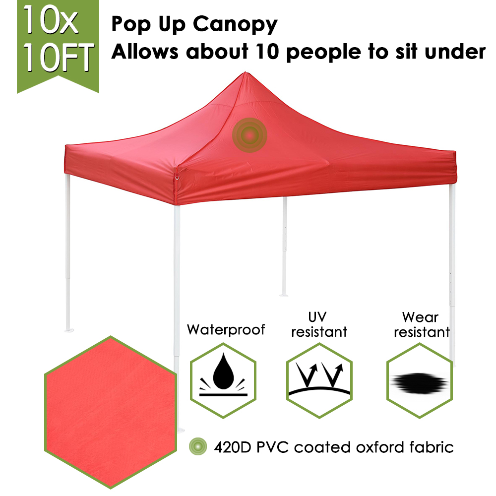 10x10-039-EZ-Pop-Up-Canopy-Tent-Patio-Outdoor-Instant-Gazebo-Folding-Shade-Party thumbnail 41