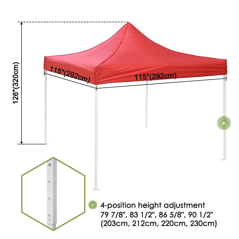 10x10-039-EZ-Pop-Up-Canopy-Tent-Patio-Outdoor-Instant-Gazebo-Folding-Shade-Party thumbnail 45