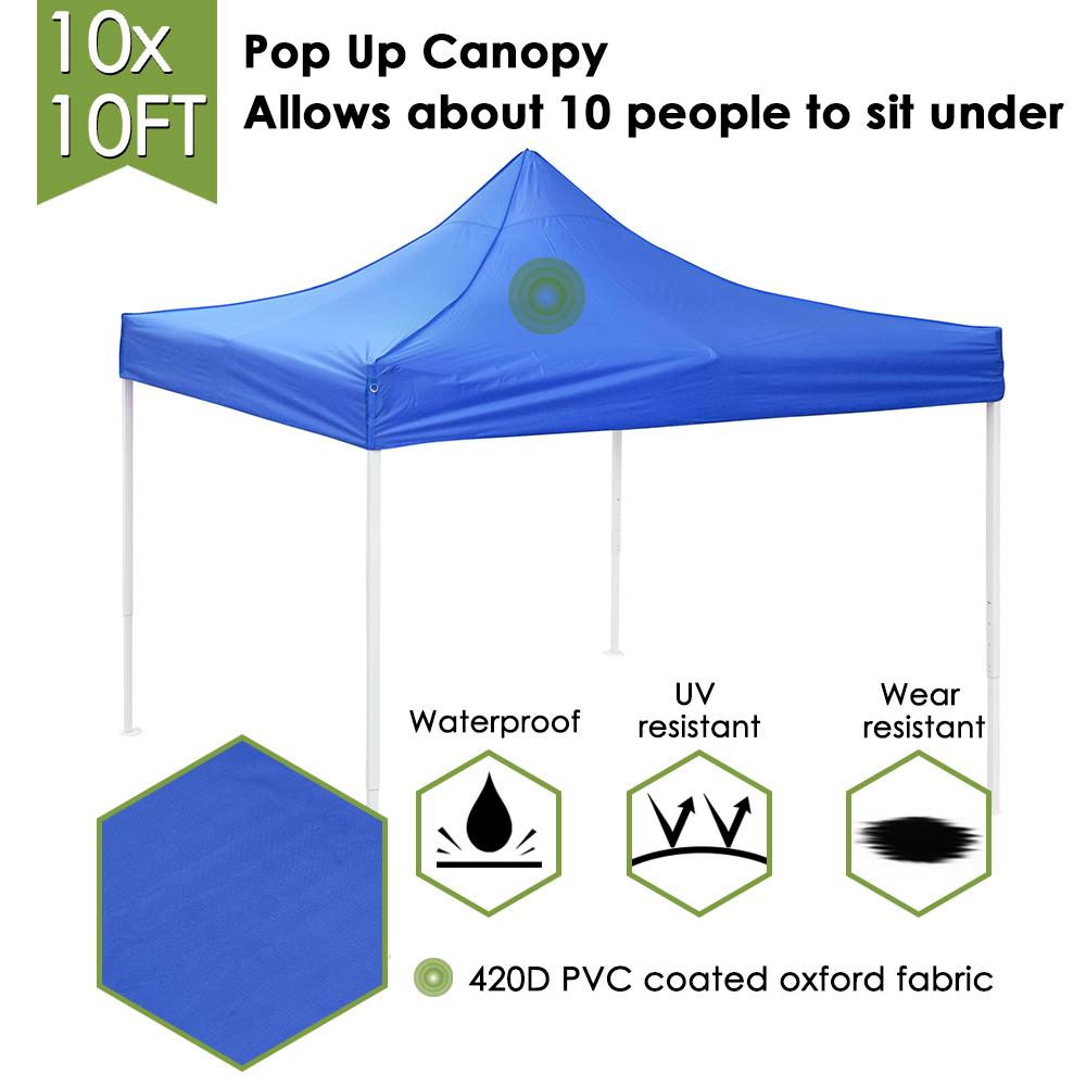 10x10-039-EZ-Pop-Up-Canopy-Tent-Patio-Outdoor-Instant-Gazebo-Folding-Shade-Party thumbnail 17