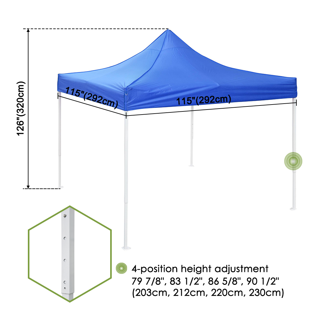 10x10-039-EZ-Pop-Up-Canopy-Tent-Patio-Outdoor-Instant-Gazebo-Folding-Shade-Party thumbnail 21