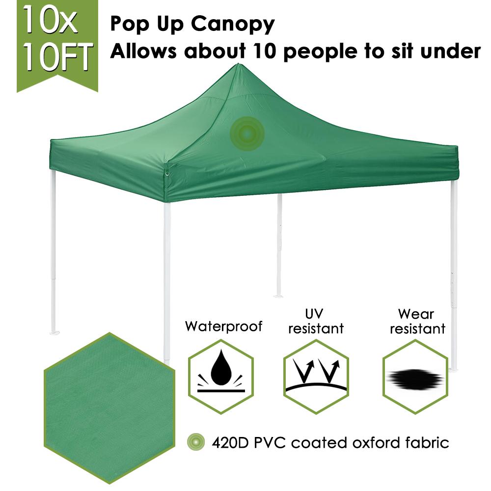 10x10-039-EZ-Pop-Up-Canopy-Tent-Patio-Outdoor-Instant-Gazebo-Folding-Shade-Party thumbnail 29