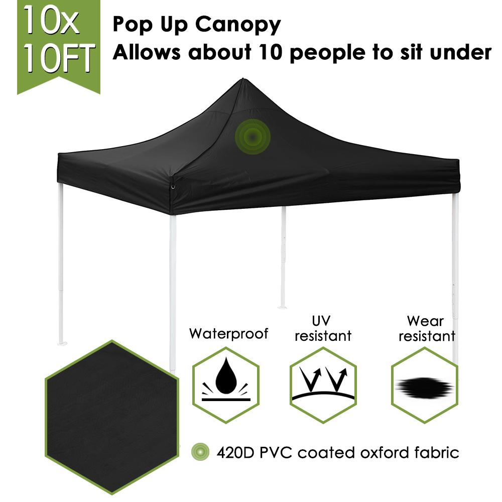 10x10-039-EZ-Pop-Up-Canopy-Tent-Patio-Outdoor-Instant-Gazebo-Folding-Shade-Party thumbnail 5