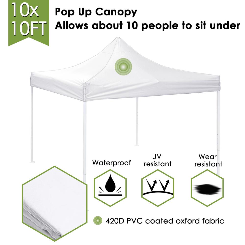 10x10-039-EZ-Pop-Up-Canopy-Tent-Patio-Outdoor-Instant-Gazebo-Folding-Shade-Party thumbnail 53