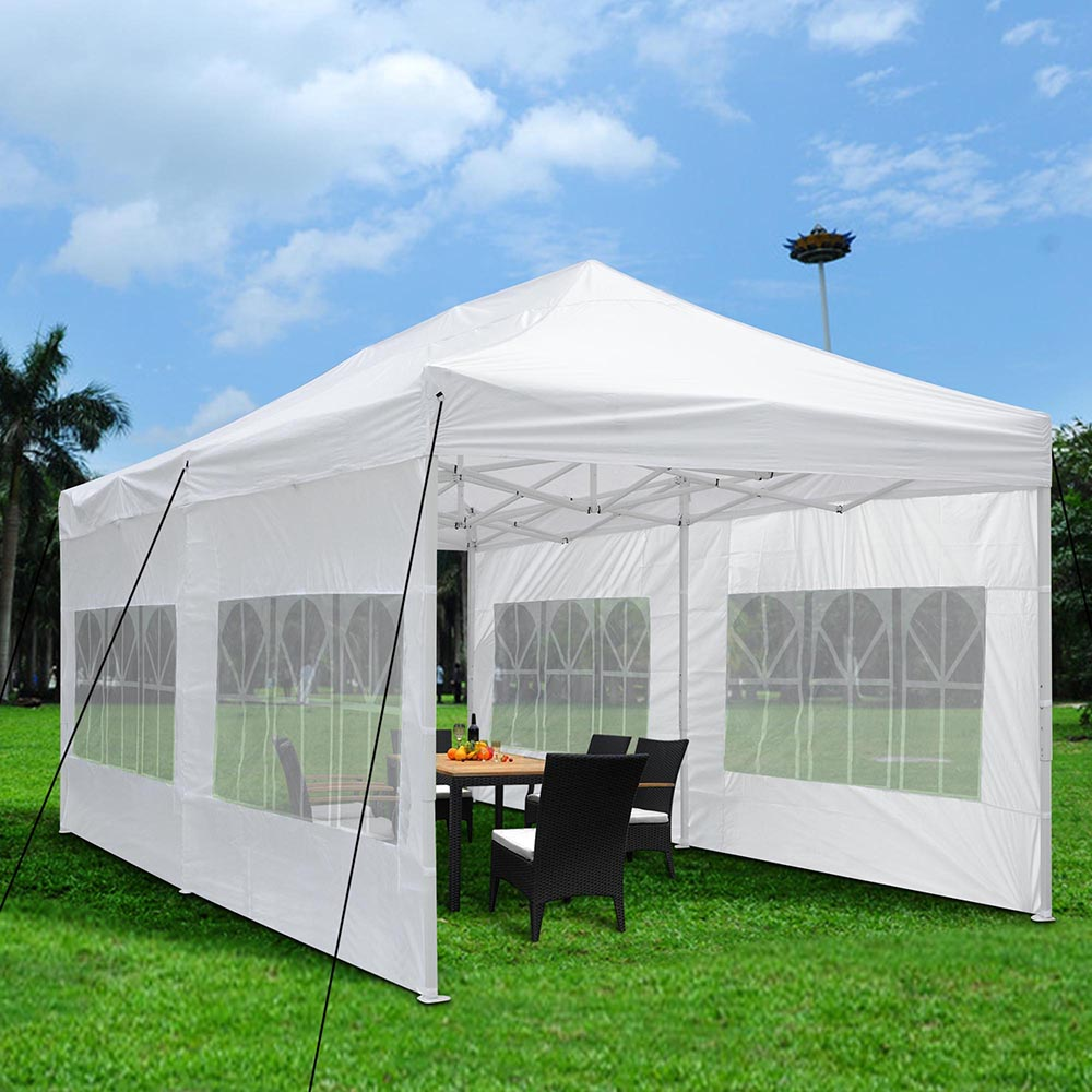 Details about 10x20u0027 Outdoor Pop Up Canopy Folding Wedding Party White Tent Sidewall Carry Bag & 10x20u0027 Outdoor Pop Up Canopy Folding Wedding Party White Tent ...