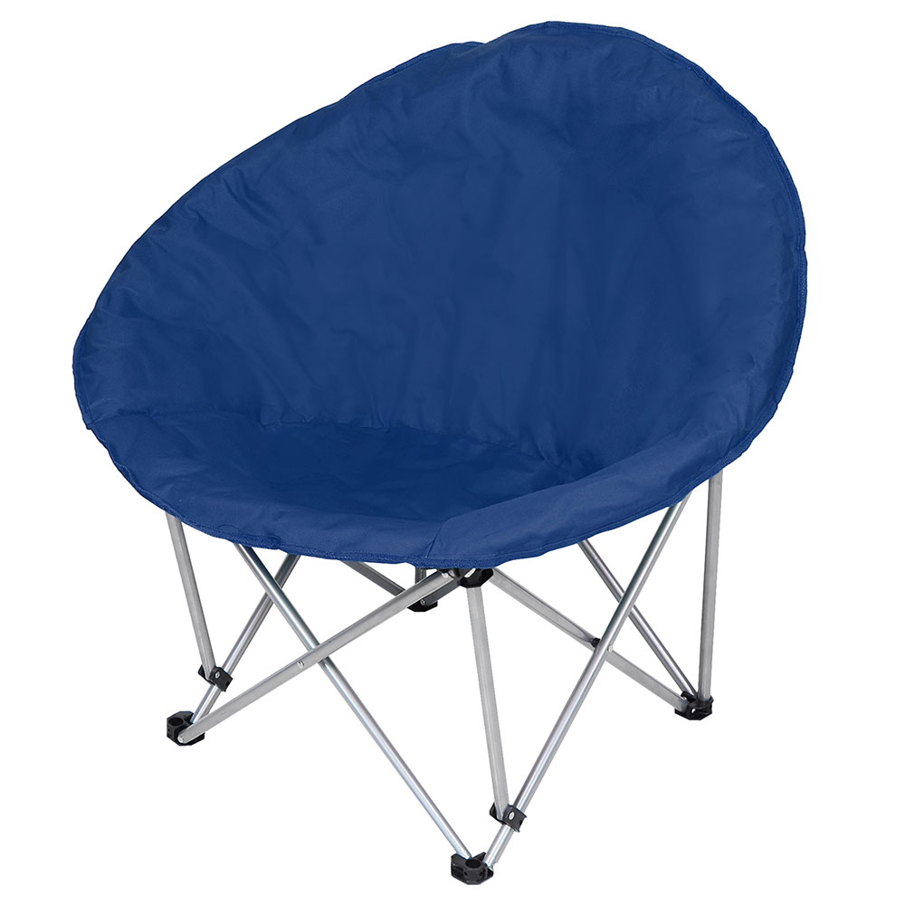Portable Microsuede Folding Padded Saucer Moon Chair ...