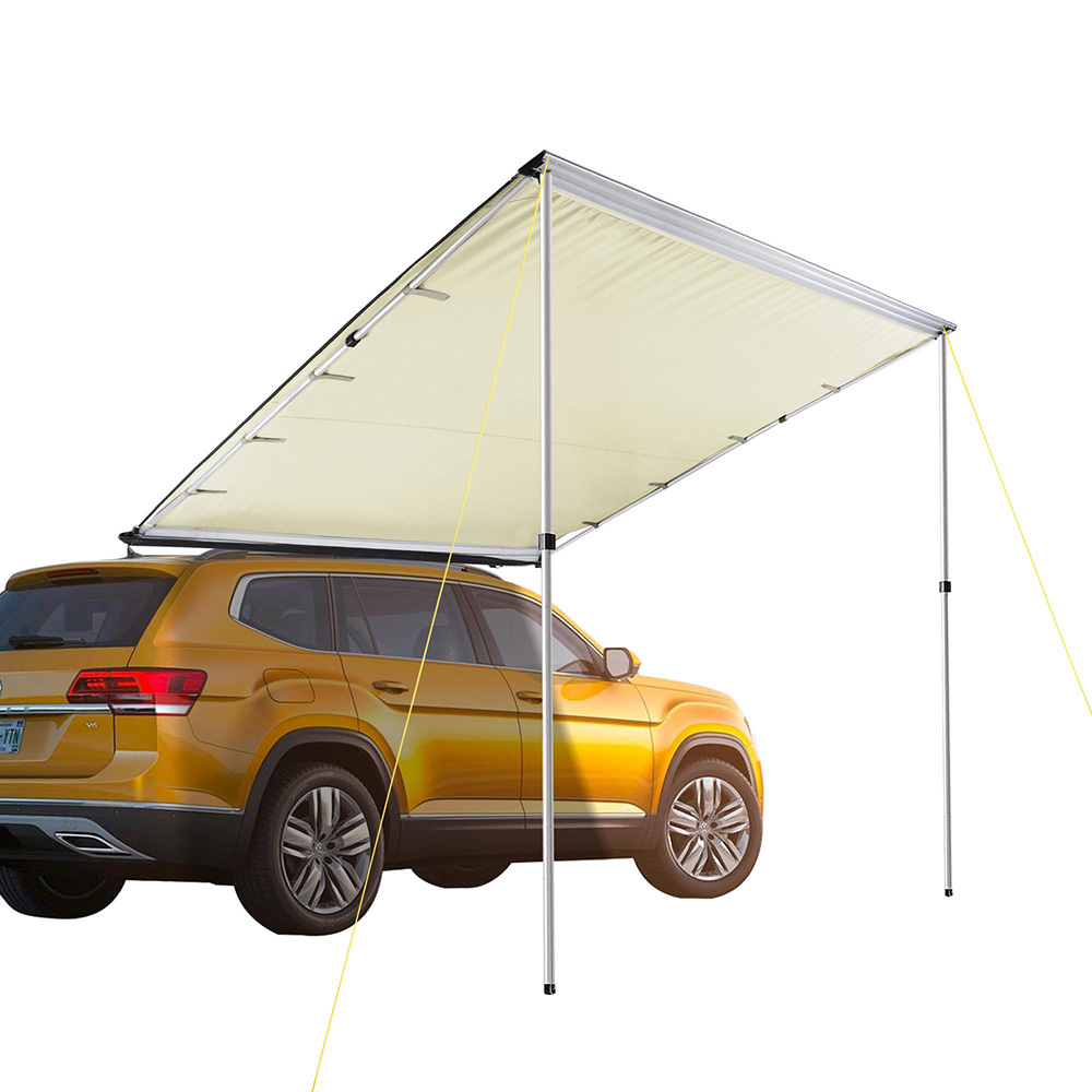 Details about 6.6x8.2u0027 Car Side Awning Rooftop Tent Sun Shade SUV Outdoor C&ing Travel Beige  sc 1 st  eBay & 6.6x8.2u0027 Car Side Awning Rooftop Tent Sun Shade SUV Outdoor Camping ...
