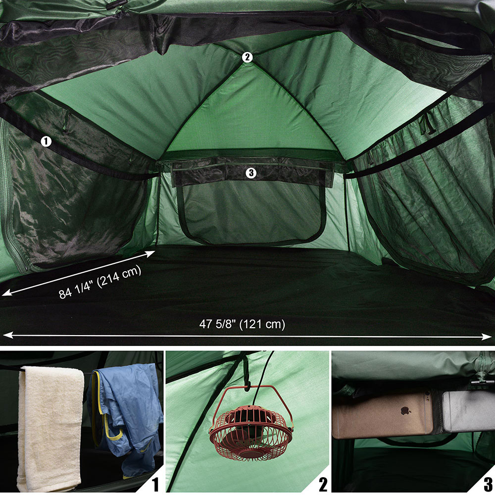 Folding 1 2 Person Elevated Camping Tent Cot Waterproof