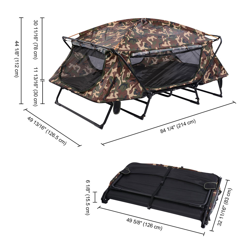 Folding 1/2 Person Elevated Camping Tent Cot Waterproof ...