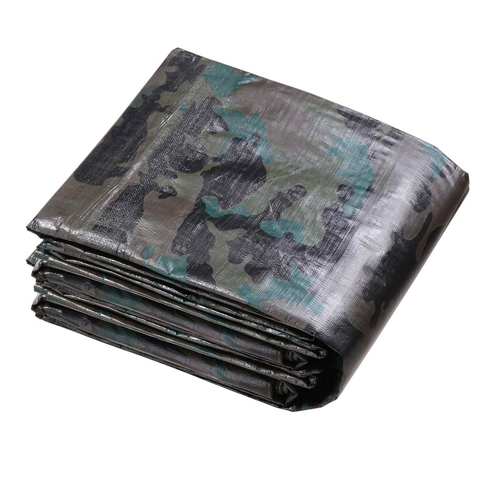 Heavy-Duty-Poly-Tarp-Camouflage-Waterproof-Canopy-Outdoor-Sun-Shade-Cover-Tent thumbnail 3