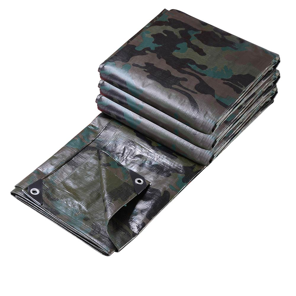 Heavy-Duty-Poly-Tarp-Camouflage-Waterproof-Canopy-Outdoor-Sun-Shade-Cover-Tent thumbnail 4