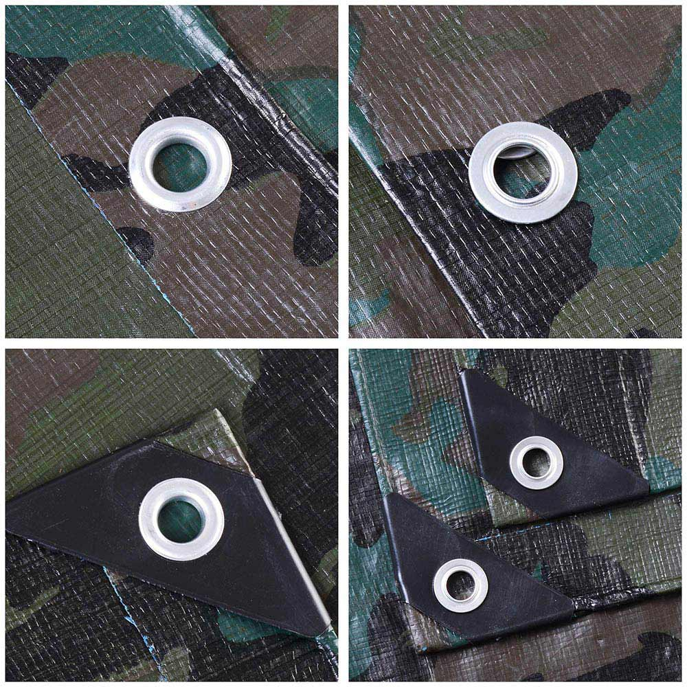 Heavy-Duty-Poly-Tarp-Camouflage-Waterproof-Canopy-Outdoor-Sun-Shade-Cover-Tent thumbnail 8