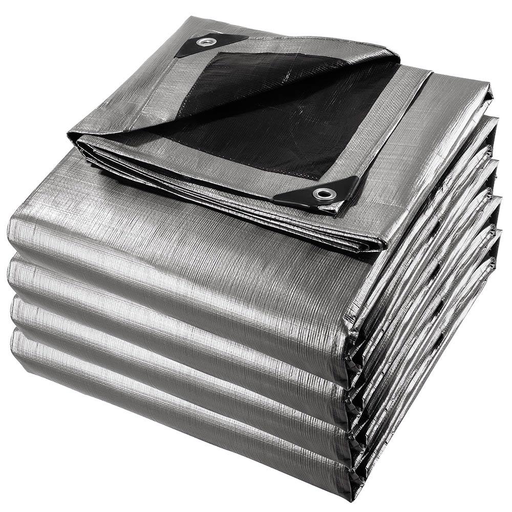 Heavy-Duty-Poly-Tarp-11mil-Waterproof-Tarpaulin-Reinforced-CoverCanopy-Tent-UV thumbnail 3