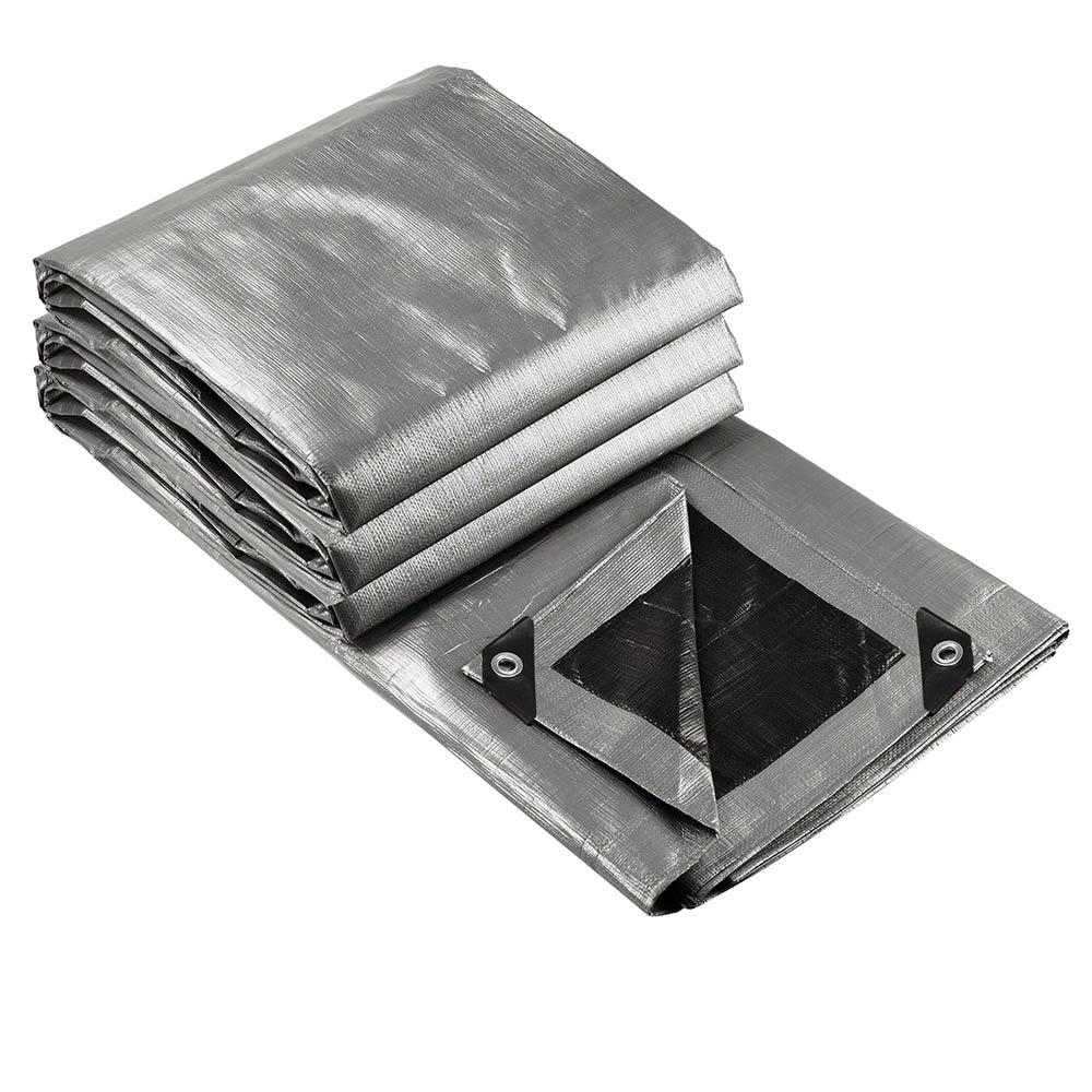 Heavy-Duty-Poly-Tarp-11mil-Waterproof-Tarpaulin-Reinforced-CoverCanopy-Tent-UV thumbnail 5