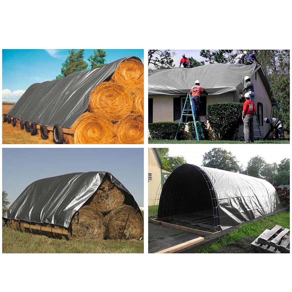 Heavy-Duty-Poly-Tarp-11mil-Waterproof-Tarpaulin-Reinforced-CoverCanopy-Tent-UV thumbnail 21