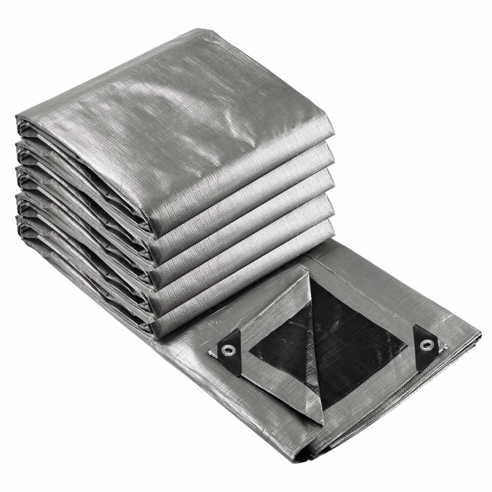 Heavy-Duty-Poly-Tarp-11mil-Waterproof-Tarpaulin-Reinforced-CoverCanopy-Tent-UV thumbnail 75