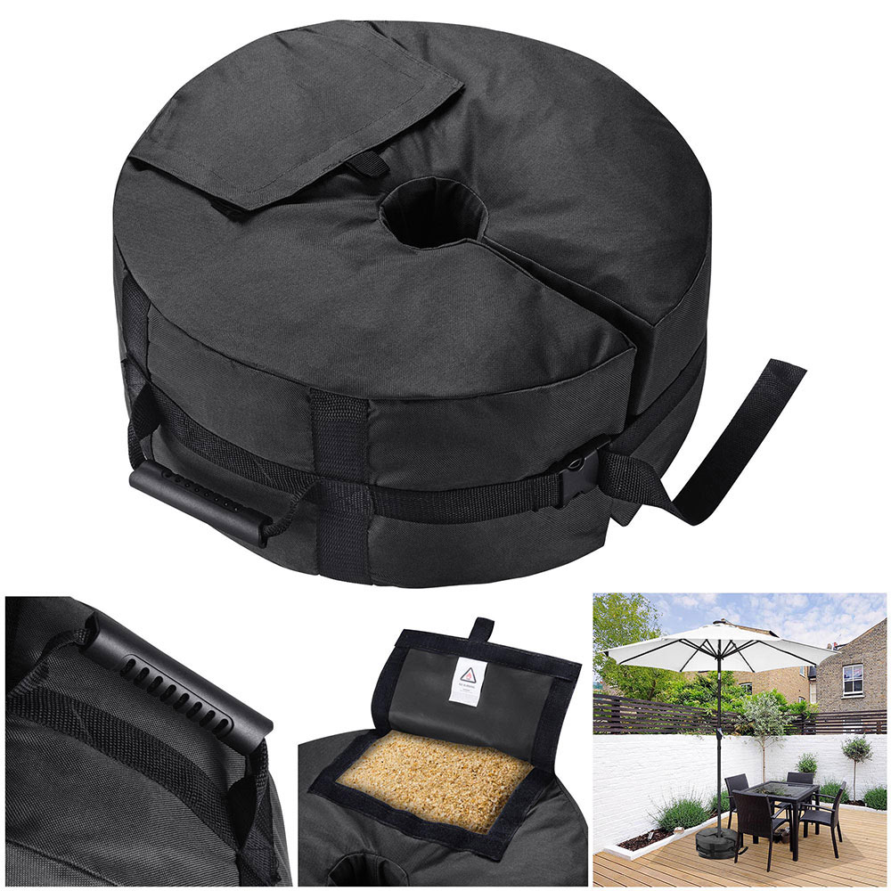 16-034-Round-Weight-Sand-Bag-for-Outdoor-Umbrella-Offset-Base-Stand-Patio-Garden thumbnail 3