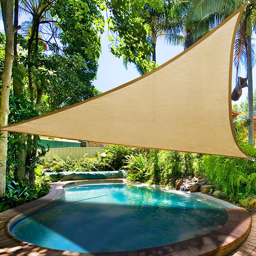 16-5-039-Triangle-Sun-Shade-Sail-Yard-  sc 1 st  eBay & 16.5u0027 Triangle Sun Shade Sail Yard Canopy Patio Garden UV Blocking ...