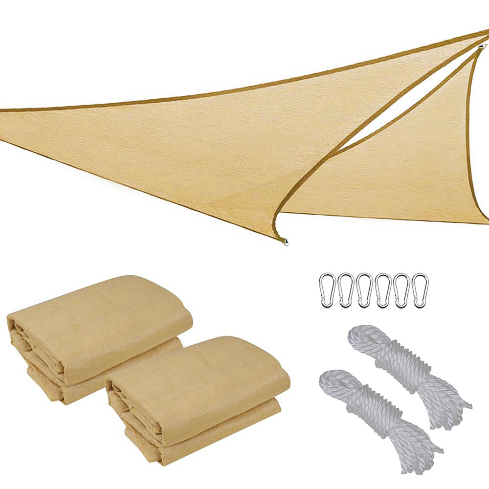 Sun-Shade-Sail-Outdoor-Patio-Top-Canopy-Cover-UV-Block-Triangle-Square-Rectangle thumbnail 39