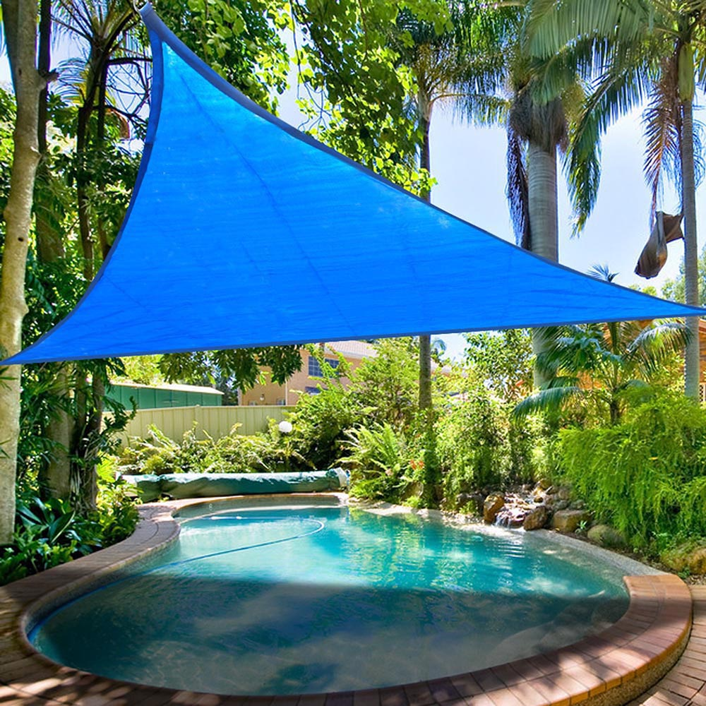16 5 39 triangle sun shade sail yard canopy patio garden uv blocking color option ebay. Black Bedroom Furniture Sets. Home Design Ideas